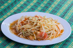 Papaya salad Stock Photo