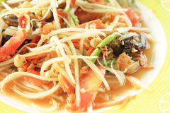 Papaya salad,. Traditional Thai food stock images