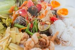Papaya salad tray Royalty Free Stock Photography