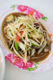 Papaya salad with unique taste hot and spicy Royalty Free Stock Photography