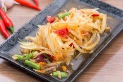 Papaya-Salat-Som Tum thailändisch Stockbilder