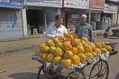 Papaya saler Royalty Free Stock Images