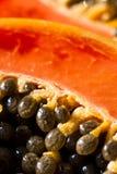 Papaya and seeds Stock Photo