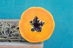 Papaya seeds Stock Photos