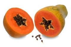 Papaya sind im Vitamin A und im Kalzium reich stockfoto