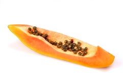 Papaya slice. Isolated on white Stock Photography