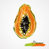 Papaya slice Royalty Free Stock Image