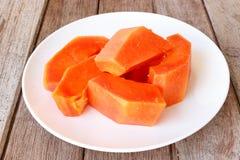 Papaya slice isolated Royalty Free Stock Image