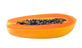 Papaya Slice Stock Photography