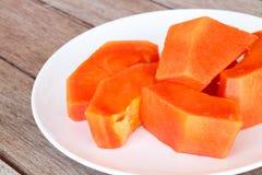 Papaya slice Stock Photos