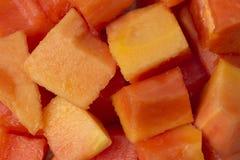 Papaya. Sliced papaya on the block Stock Photos