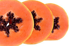 Papaya slices Royalty Free Stock Photos