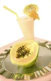 Papaya smoothie Stock Images
