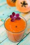 Papaya smoothie Stock Photos