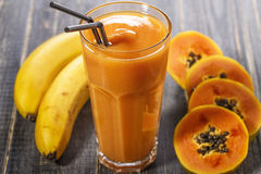 Papaya smoothie, selective focus. Stock Image