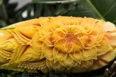 Papaya som snider hantverket Royaltyfri Foto