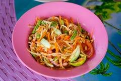 Papaya-Som Tam-Salat Stockfotografie