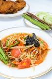 Papaya spicy salad Stock Photography