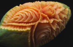 Papaya tallada Imagen de archivo libre de regalías