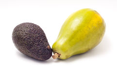 Papaya und Avocado Lizenzfreies Stockbild