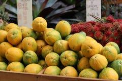 Papaya und Litschi Lizenzfreies Stockbild