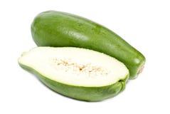 Papaya verde Foto de archivo libre de regalías