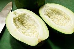 Papaya verde Imagen de archivo