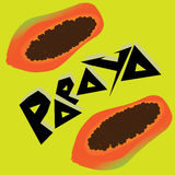 Papaya Wallpaper. Papaya fruit Vegetable illustration background Stock Image
