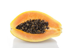 Papaya on White Stock Image