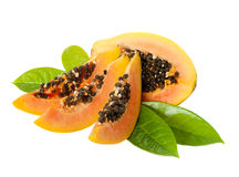 Papaya on a white background. Stock Images
