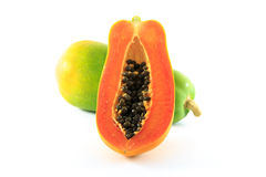 Papaya. On the white background Royalty Free Stock Photography