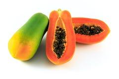 Papaya. On the white background Stock Image