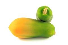 Papaya. On the white background Royalty Free Stock Photos