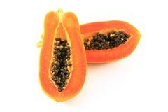 Papaya. On the white background Royalty Free Stock Image