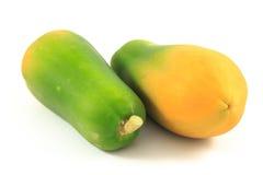 Papaya. On the white background Royalty Free Stock Images