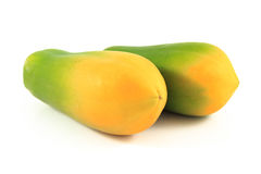 Papaya. On the white background Royalty Free Stock Photography