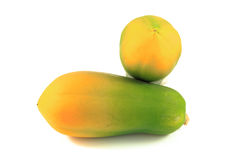 Papaya. On the white background Stock Images