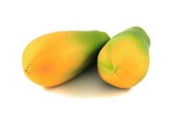 Papaya. On the white background Stock Photography