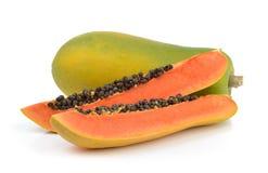 Papaya on white background Royalty Free Stock Photo