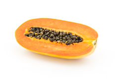 Papaya on white background Stock Image