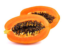 Papaya in white background. Healty ,Fruit ,orange , Diate Royalty Free Stock Photography