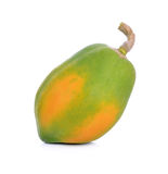 Papaya on white background. Royalty Free Stock Images