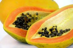 Papaya on white background. Stock Image
