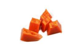 Papaya on white Stock Photography