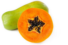 Papaya on white Royalty Free Stock Photography