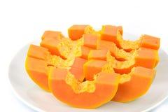 Papayaen är söt Arkivfoton