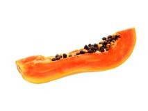 Papayafrukt som skivas på halva Fotografering för Bildbyråer