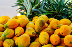 Papayas Royalty Free Stock Photos
