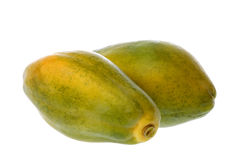 Papayas Isolated Royalty Free Stock Photos