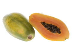 Papayas Isolated Royalty Free Stock Image